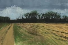 """Farm, Early Spring  10"""" x 20"""""""