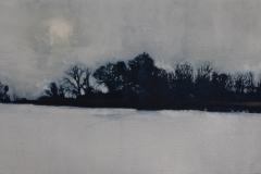 """Hutchins Farm, Winter  10"""" x 20""""  SOLD"""