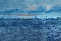 """Harbor Evening 10"""" x 20"""""""