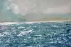 """Stormy Seas  12"""" x 20""""  SOLD"""