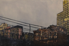 """Evening Settles In  15""""x6"""""""