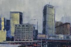 """Foggy Day, Boston  10""""x20"""""""